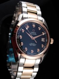 Omega Seamaster Stainless Steel Case Black Dial Watches
