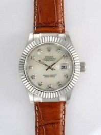 Rolex DATEJUST Ivory Dial With CZ Diamond Hour M