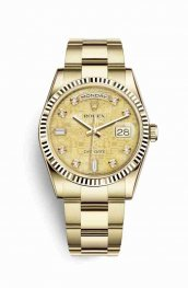 Rolex Day-Date 36 118238 Champagne mother-of-pearl Jubilee diamonds Watch Replica