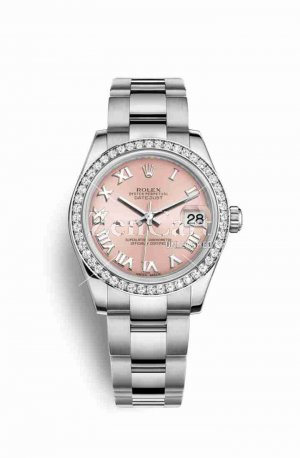Rolex Datejust 31 White gold 178384 Pink Dial Watch Replica