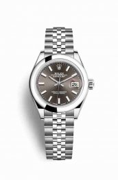 Rolex Datejust 28 Oystersteel 279160 Dark grey Dial Watch Replica
