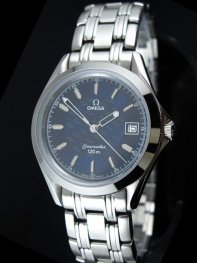 Omega Seamaster Stainless Steel Navy Dial Watches D07110