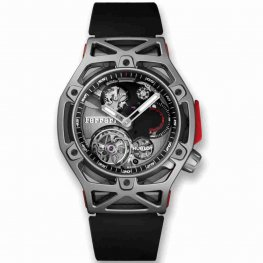 Hublot Techframe Ferrari Tourbillon Chronograph Titanium 408.NI.0123.RX 45mm Replica