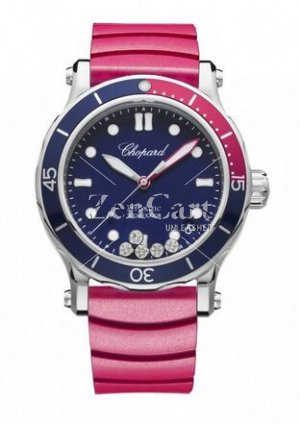 Chopard Happy Ocean Stainless Steel & Diamonds 278587-3002 Replica Ladies Watch