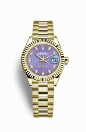 Rolex Datejust 28 279178 Lavender diamonds Watch Replica