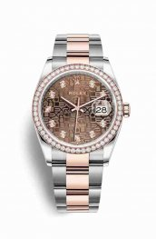 Rolex Datejust 36 Everose gold 126281RBR Chocolate Jubilee diamonds Watch Replica