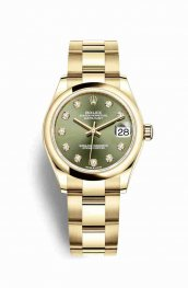 Rolex Datejust 31 278248 Olive green diamonds Watch Replica