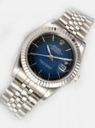 Rolex DATEJUST Indigo Dial With Bar Hour Marker