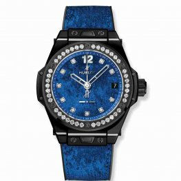 Hublot Big Bang One Click Italia Independent Blue Velvet 465.CS.277L.NR.1204.ITI17 39mm Replica Watch