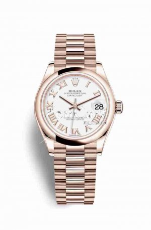 Rolex Datejust 31 Everose gold 278245 White Dial Watch Replica