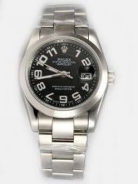 Rolex DATEJUST Black Dial With Arabic Hour Marke