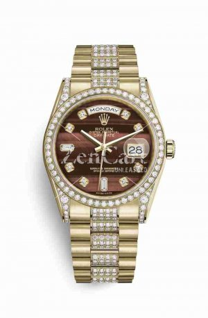 Rolex Day-Date 36 118388 Bulls eye diamonds Watch Replica