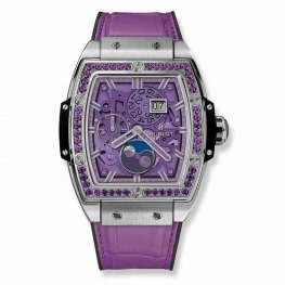 Hublot Spirit Of Big Bang Moonphase Titanium Purple 647.NX.4771.LR.1205 42mm Replica