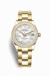 Rolex Datejust 31 278288RBR White mother-of-pearl diamonds Watch Replica