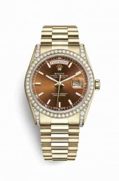 Rolex Day-Date 36 118388 Cognac Dial Watch Replica