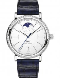 IWC Portofino Automatic Silver Diamond Dial Mens IW459008 Replica