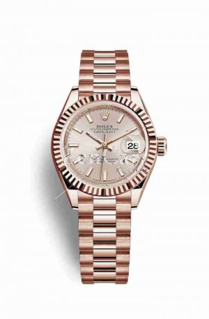 Rolex Datejust 28 Everose gold 279175 Sundust Dial Watch Replica