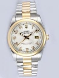 Rolex DATEJUST White Dial With Arabic Hour Marke