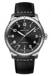 Breitling Navitimer 8 Automatic Black Dial Leather Strap A17314101B1X1 Replica Watch