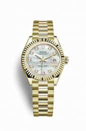 Rolex Datejust 28 279178 White mother-of-pearl diamonds Watch Replica