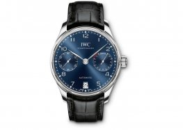 IWC Portugieser Chronograph Automatic Blue Dial Mens IW500710 Replica