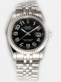Rolex DATEJUST Black Dial With Arabic Hour Mark