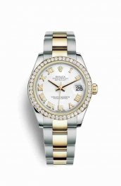 Rolex Datejust 31 Yellow 178383 White Dial Watch Replica
