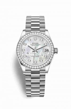 Rolex Datejust 31 278289RBR White mother-of-pearl diamonds Watch Replica