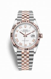 Rolex Datejust 36 Everose gold 126231 White Dial Watch Replica
