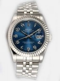 Rolex DATEJUST Cobalt Dial With Arabic Hour Mark