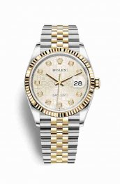 Rolex Datejust 36 Yellow 126233 Silver Jubilee diamonds Watch Replica