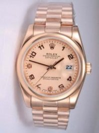 Rolex DATEJUST Anti Golden Dial With Arabic Hour