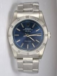 Rolex Oyster Perpetual Air King Blue Dial With S