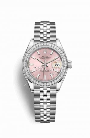Rolex Datejust 28 White gold 279384RBR Pink Dial Watch Replica