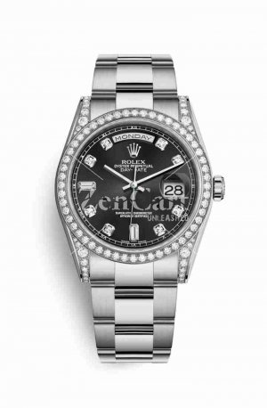 Rolex Day-Date 36 diamonds 118389 Black diamonds Watch Replica