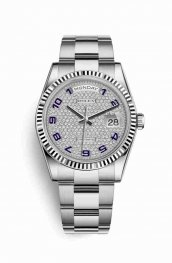Rolex Day-Date 36 118239 Diamond-paved Dial Watch Replica
