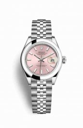 Rolex Datejust 28 Oystersteel 279160 Pink Dial Watch Replica