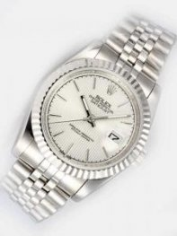 Rolex DATEJUST Silver Dial With Bar Hour Marker