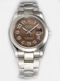 Rolex DATEJUST Brown Dial With Arabic Hour Marke