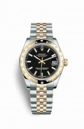 Rolex Datejust 31 Yellow 178343 Black Dial Watch Replica
