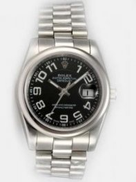 Rolex DATEJUST Black Dial With Arab Hour Marker