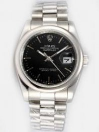 Rolex DATEJUST Black Dial With Bar Hour Markers