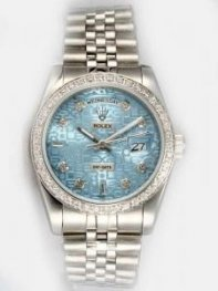 Rolex Day Date Etched Thirsty Blue Dial With Sha
