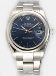 Rolex DATEJUST Mazarine Dial With Bar Hour Mark