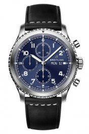 Breitling Navitimer 8 Chronograph Blue Dial Leather Strap A13314101C1X1 Replica Watch