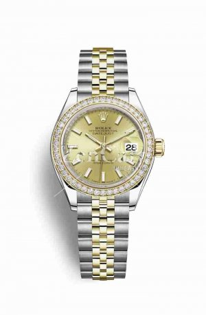 Rolex Datejust 28 Yellow 279383RBR Champagne Dial Watch Replica