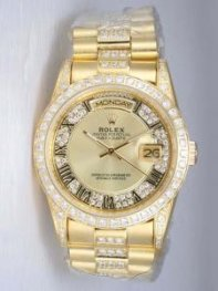 Rolex Day Date Yellow Golden Dial With Roman Hou
