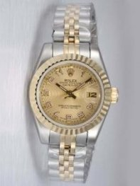 Rolex DATEJUST Amber Dial With Arabic Hour Marke