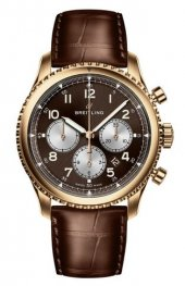 Breitling Navitimer 8 B01 18ct Red Gold | Bronze Dial Leather Strap RB0117131Q1P1 Replica Watch