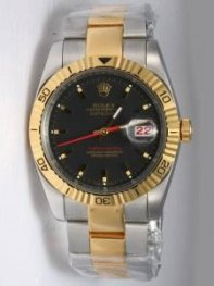 Rolex DATEJUST Coal Black Dial With Bar Hour Ma